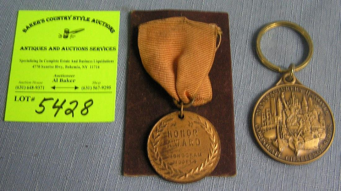Pair of vintage medals