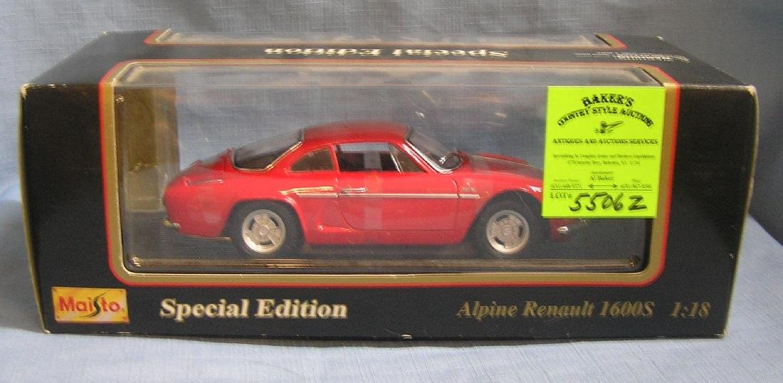 All cast metal Renault 1600S sports car