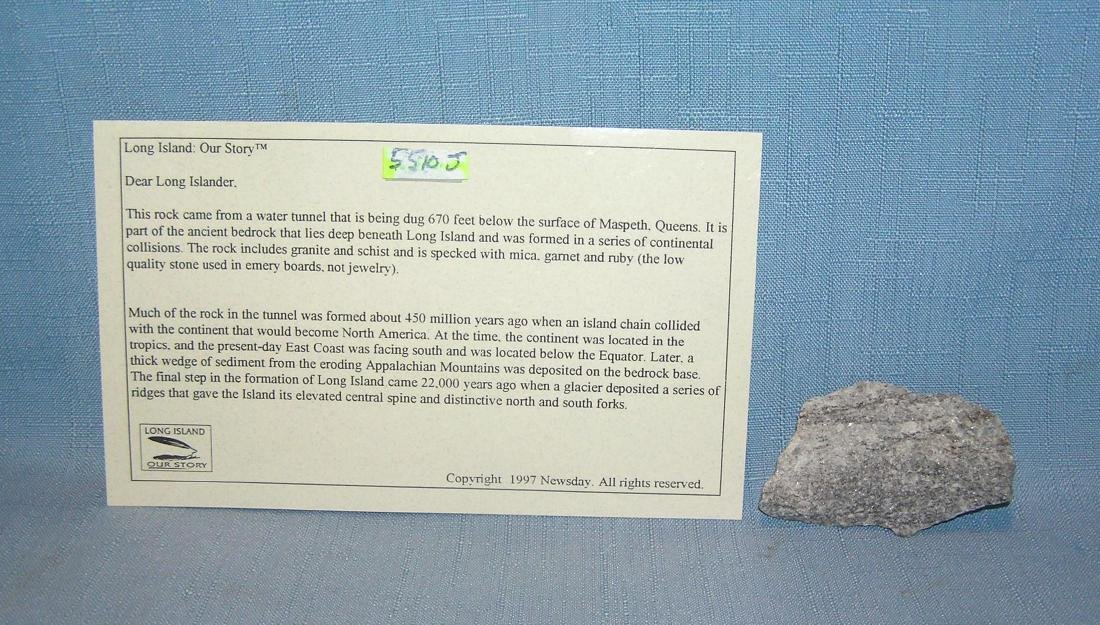 Antique mineral speciman with certificate