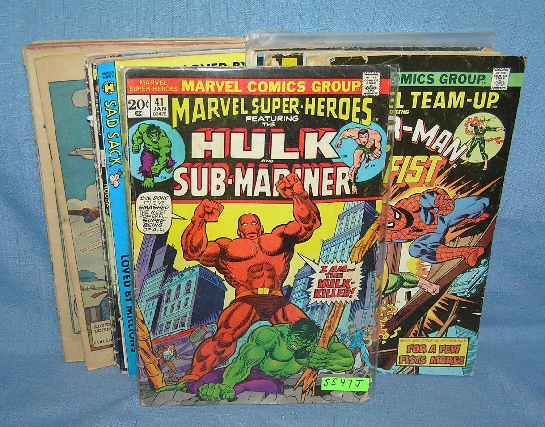 Large collection of vintage comic books