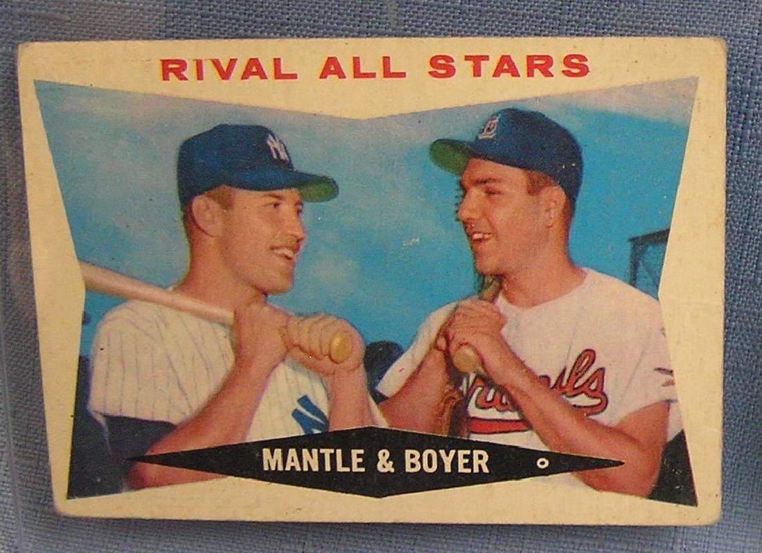 Topps Mickey Mantle and Ken Boyer Baseball card