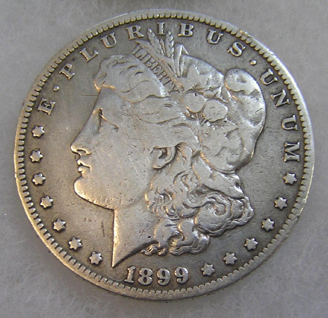 1899-O Morgan silver dollar in fine condition