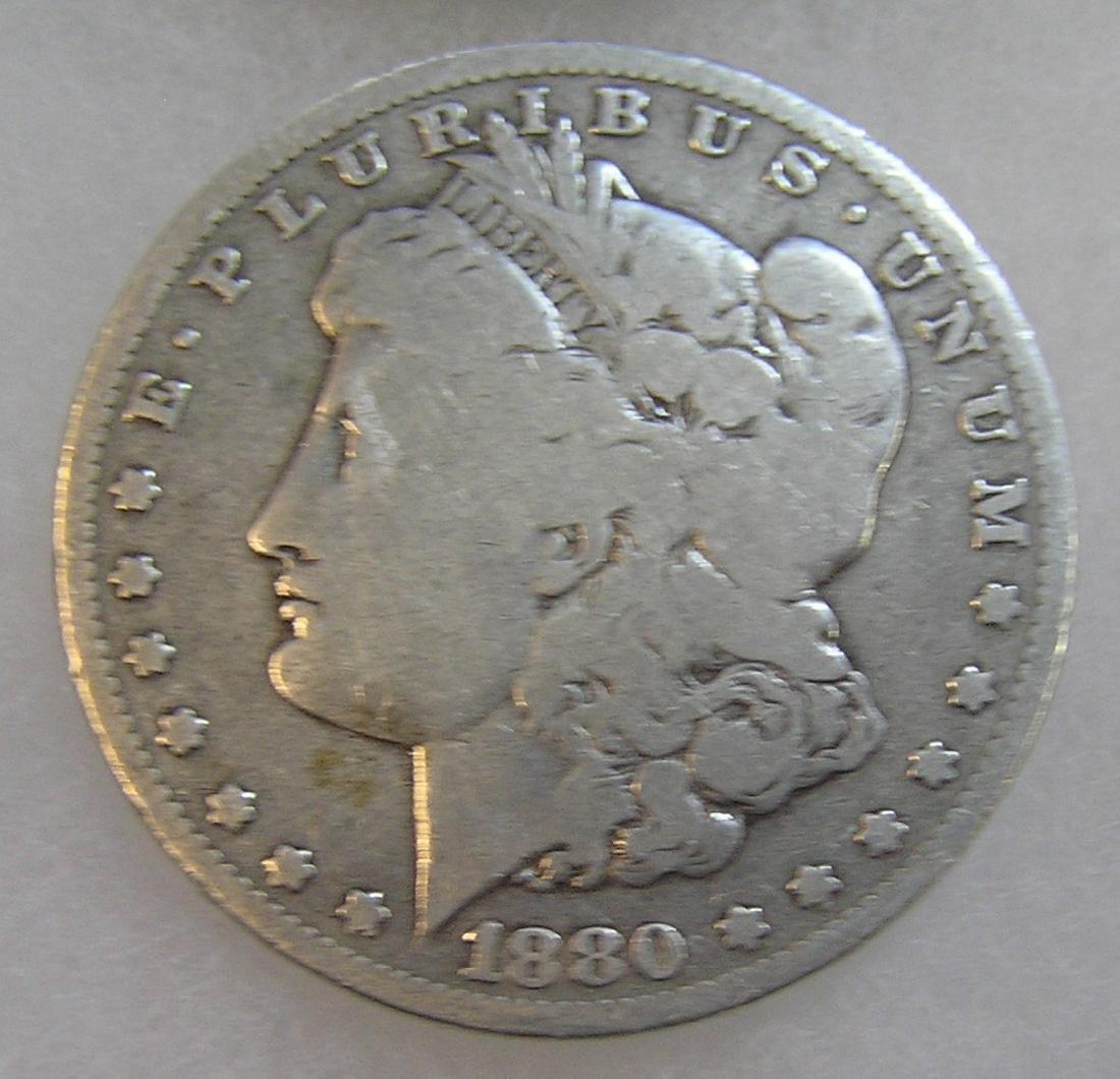 1880 Morgan silver dollar in good condition