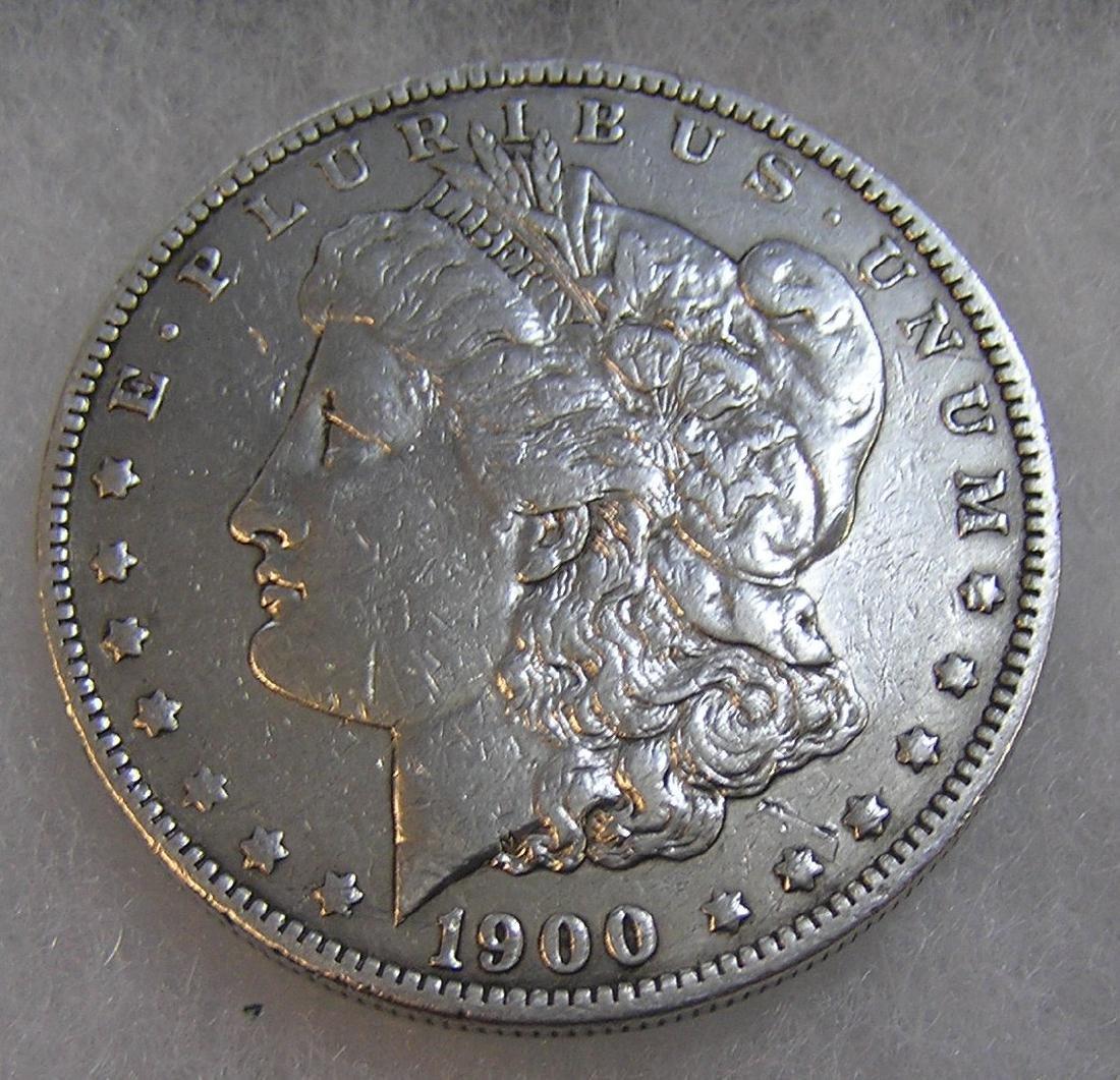 1900 Morgan silver dollar in fine condition