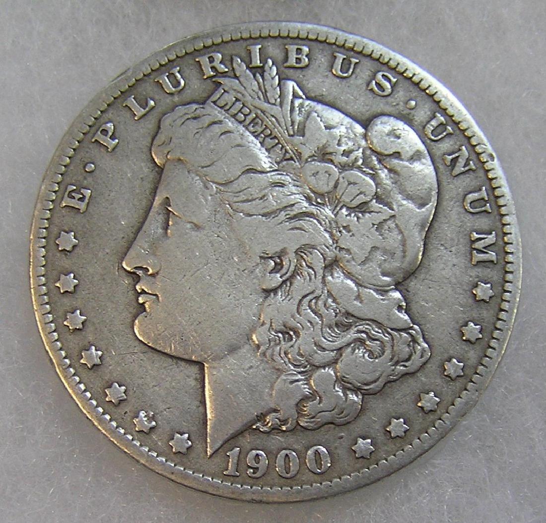 1900-O Morgan silver dollar in very good condition