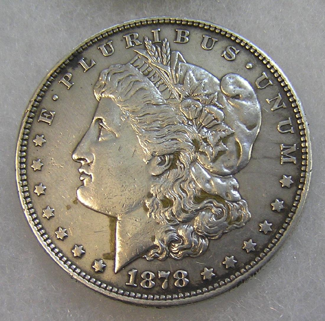 1878 Morgan silver dollar in very fine condition