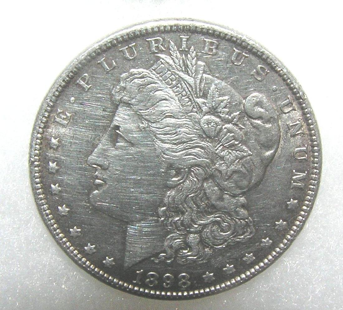1883 Morgan silver dollar in fine condition