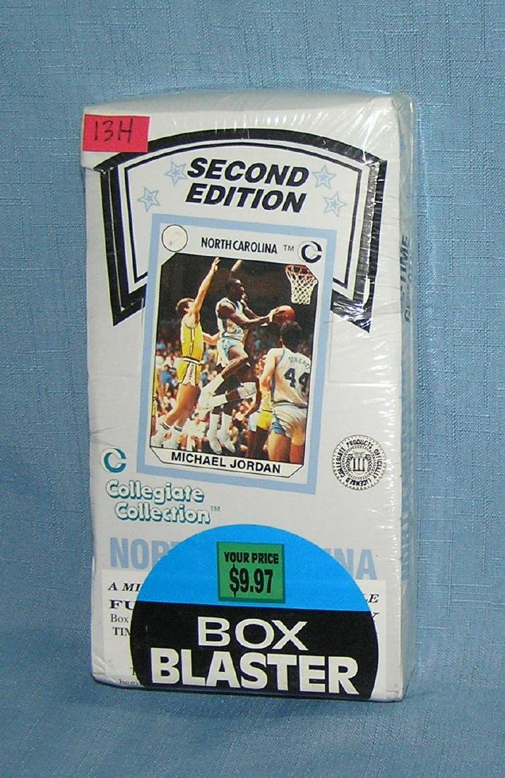 North Carolina's factory sealed box of basketball cards