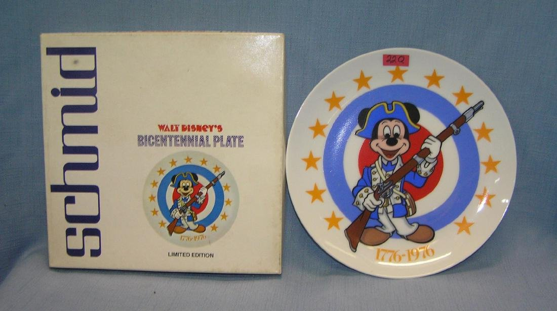 Mickey Mouse Bicentennial porcelain collector plate
