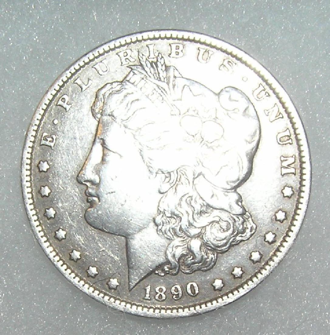 1890 Morgan Silver Dollar in fine condition