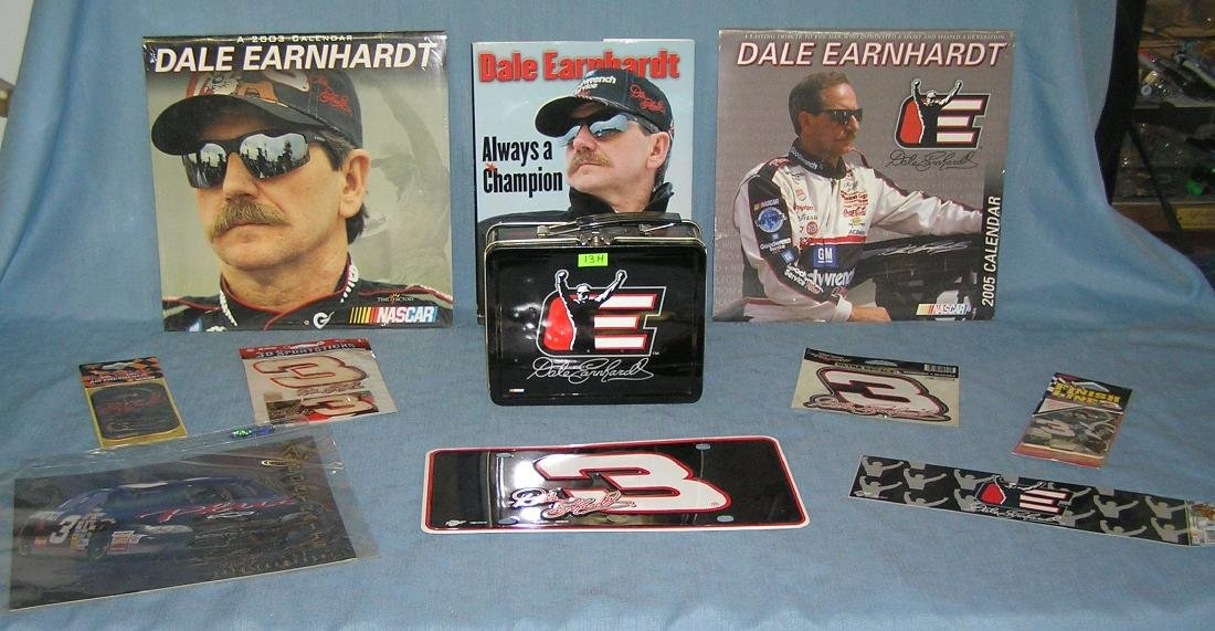 Large group of Dale Earnhardt Sr NASCAR collectibles