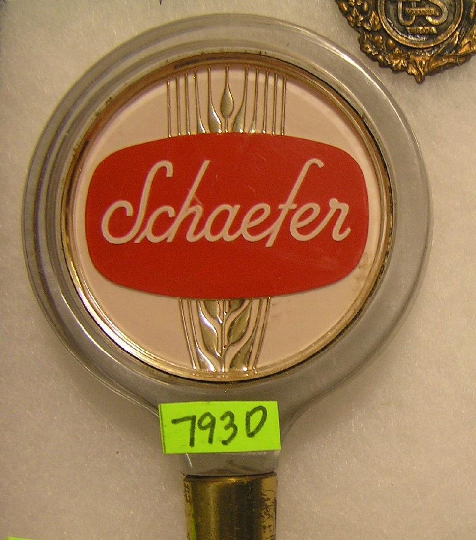 Vintage 1950's Schaefer's beer tap handle