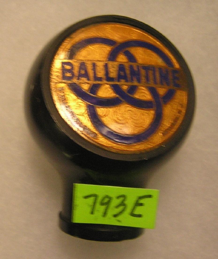 Early Ballentine beer Bakelite beer tap handle
