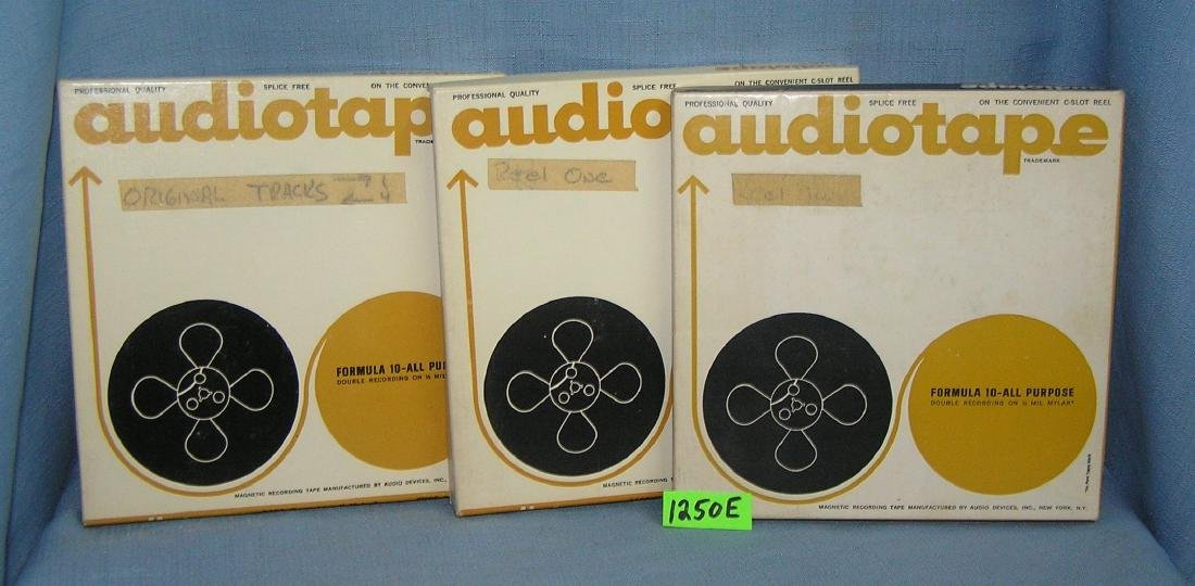 Group of 3 professional quality audio tapes
