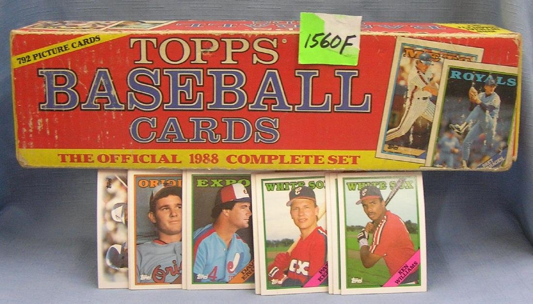 Box full of 1988 Topps Baseball cards