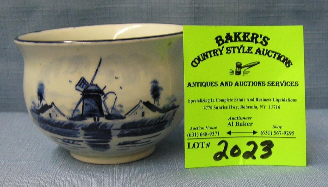 Vintage blue Deft ware bowl