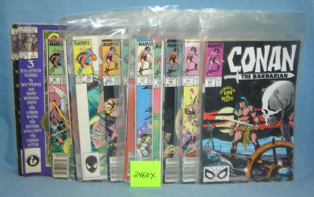 Vintage Conan the Barbarian comic books