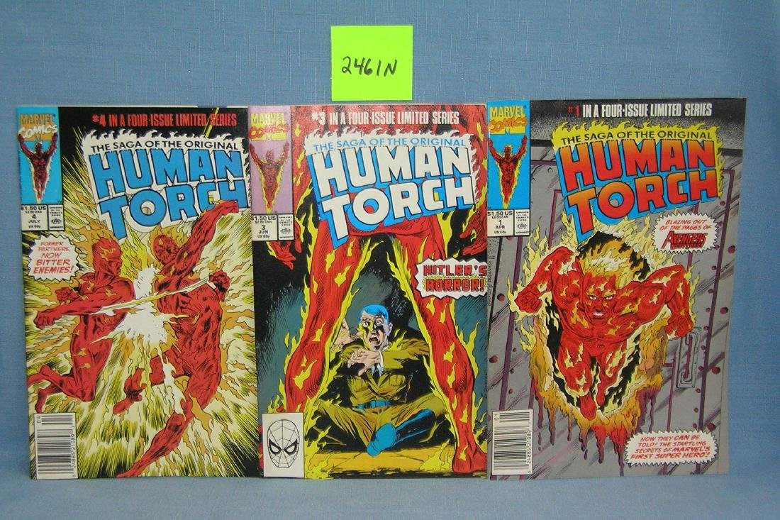 Group of 3 Marvel Human Torch comic books