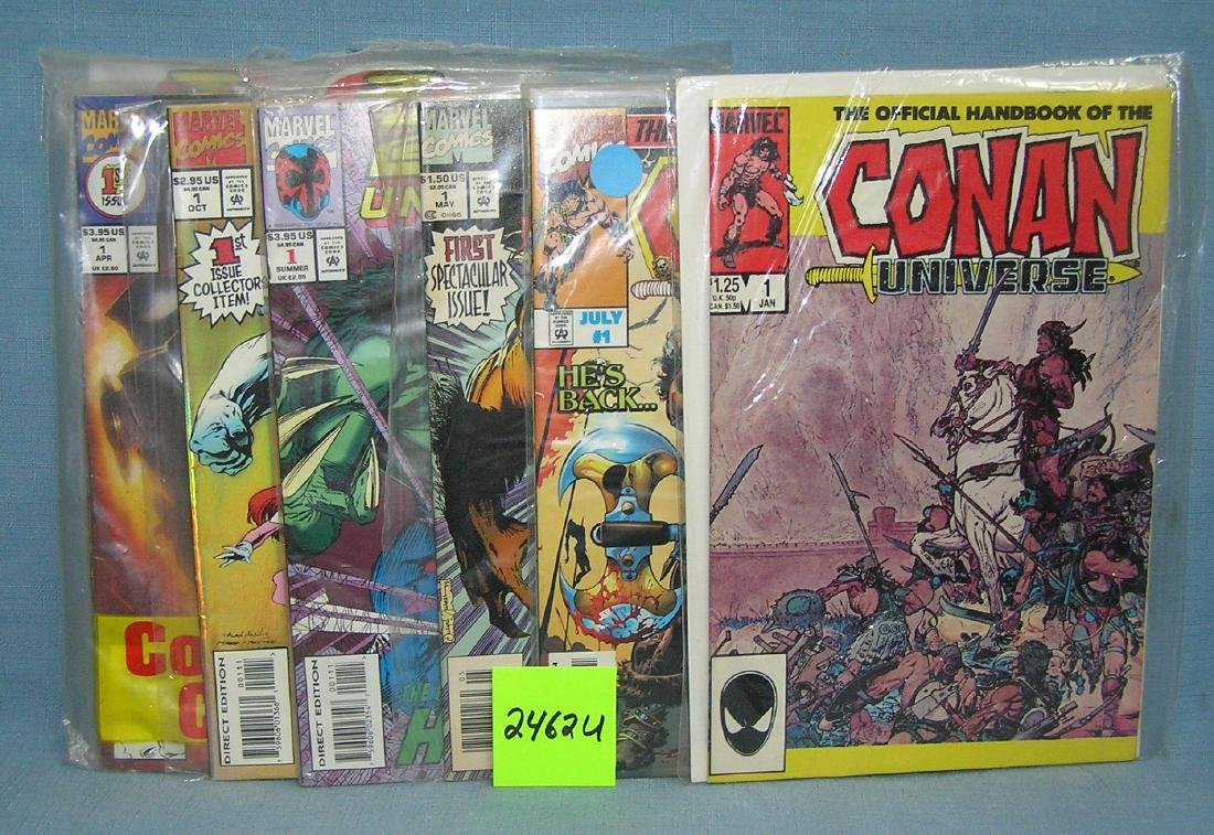 Vintage first edition Marvel comic books