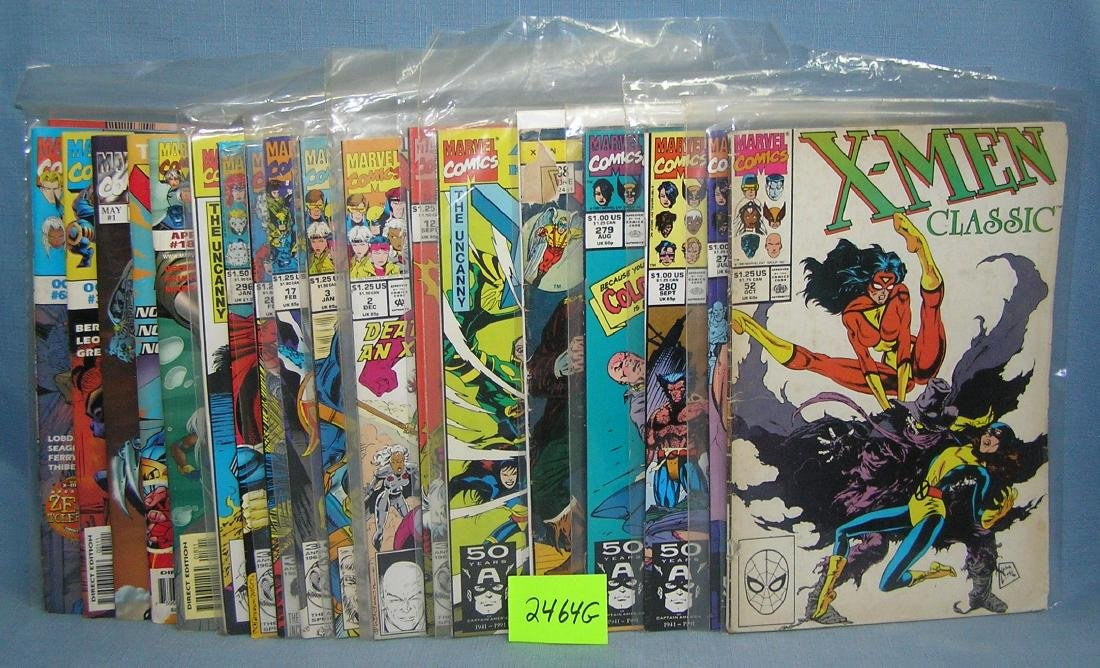 Large group of vintage Marvel Xmen comic books