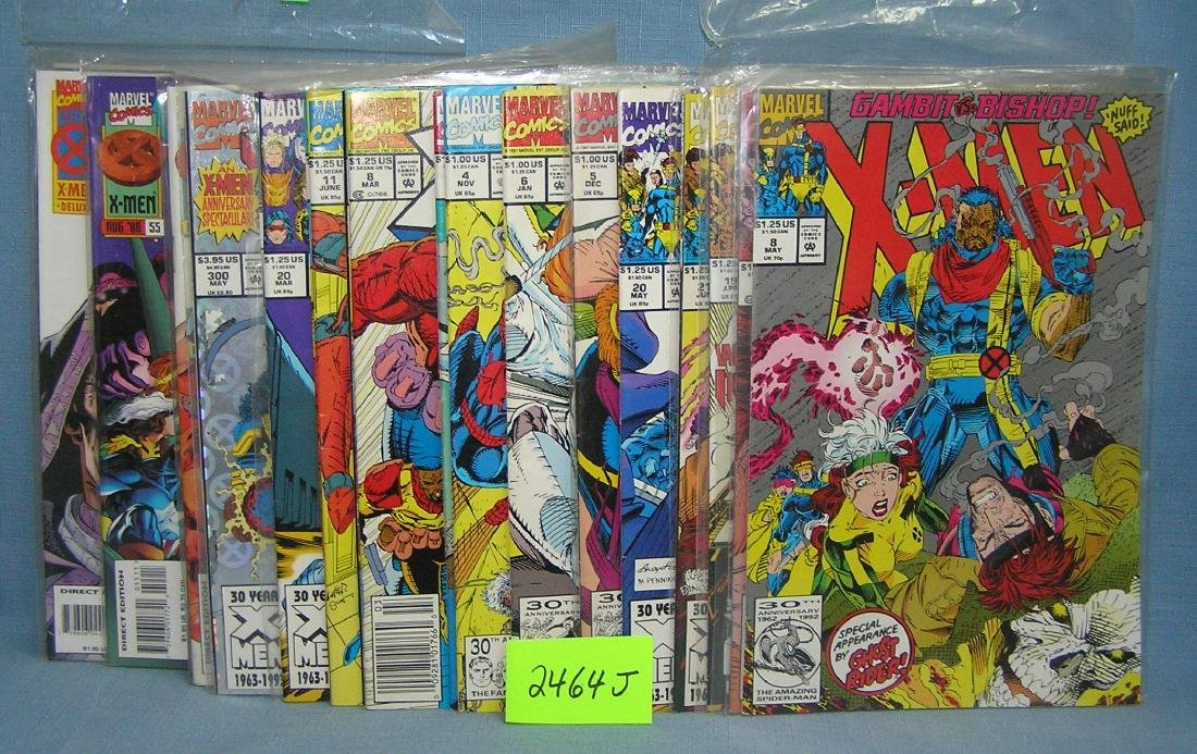 Large group of vintage Marvel Xmen comic books