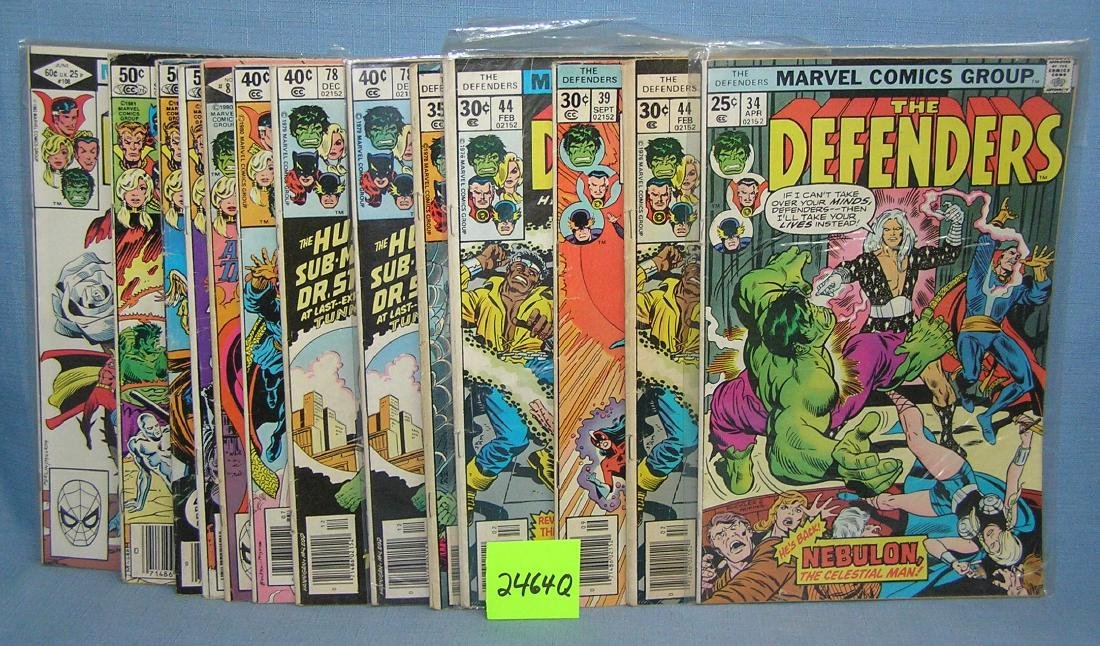 Marvel The Defenders comic books