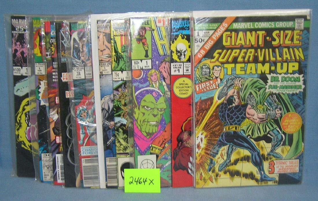 Group of vintage Marvel first edition comic books