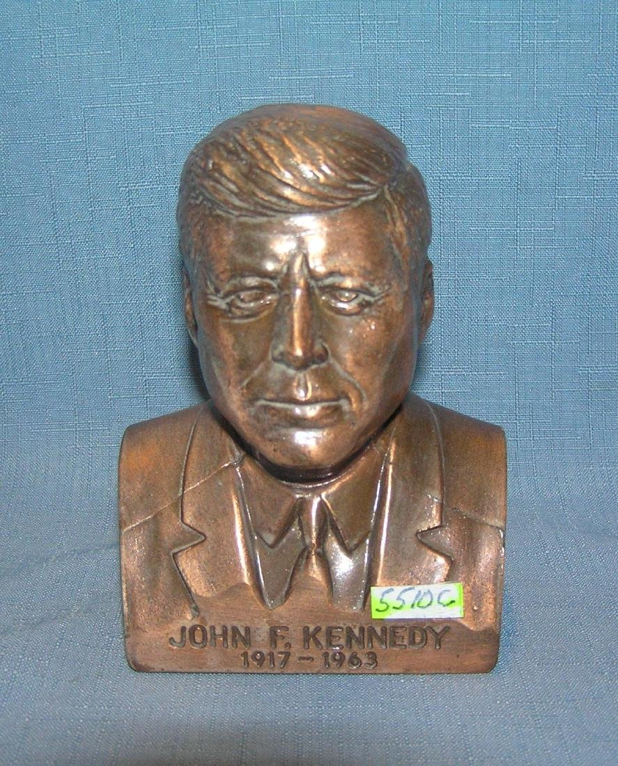 John F Kennedy all cast metal bank