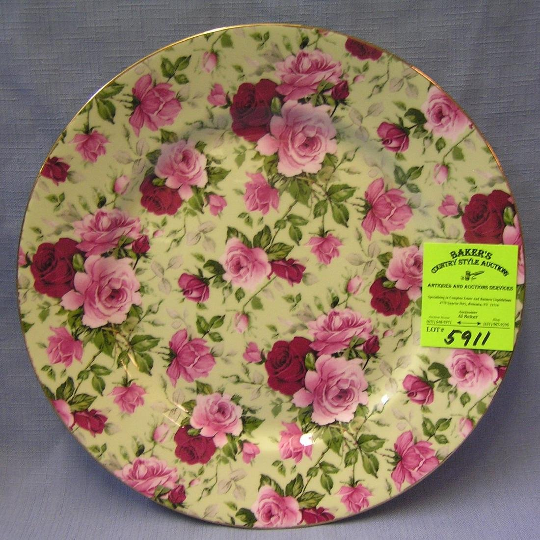Nice floral decorated platter