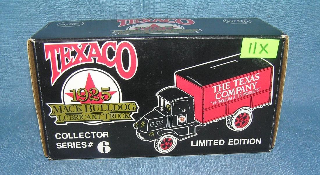 All cast metal 1925 Texaco Mack Bulldog delivery truck
