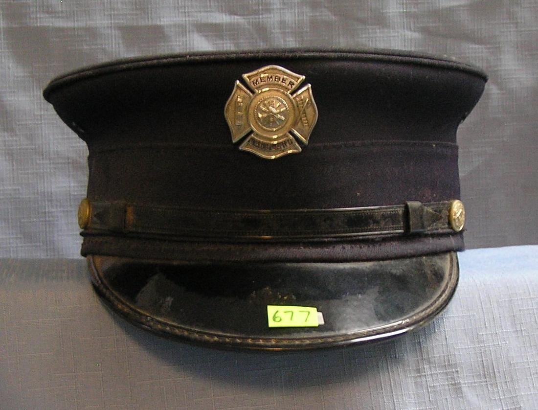 Vintage Lakeland NY fire chief hat