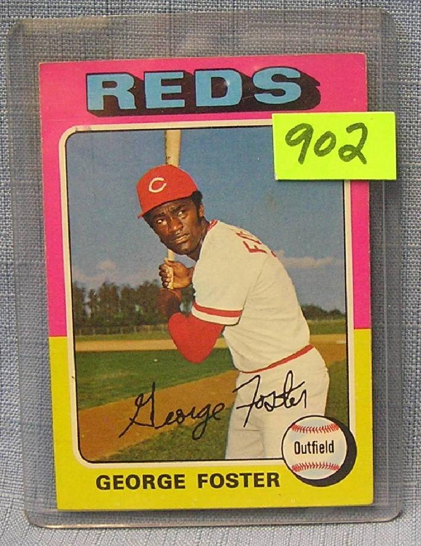 Vintage George Foster rookie baseball card