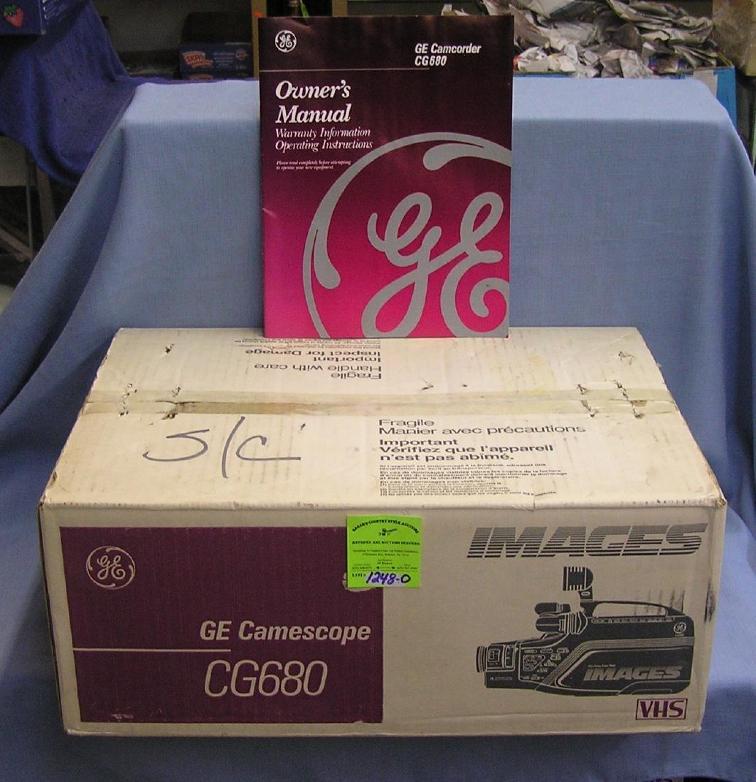 GE Gamescope VHS video camera