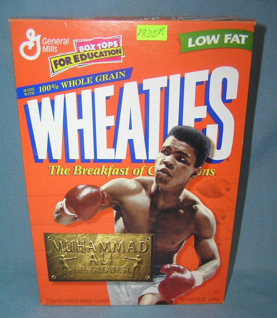 Muhammad Ali Wheaties cereal box