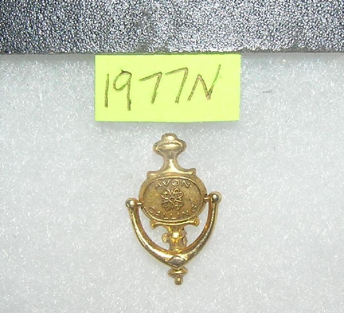 Vintage Avon door knocker shaped award pin