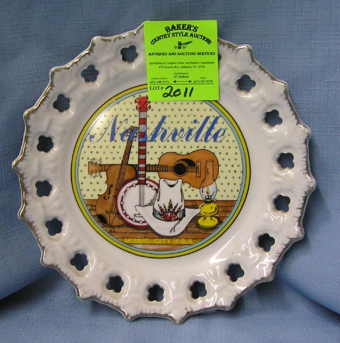 Vintage Nashville collectors plate