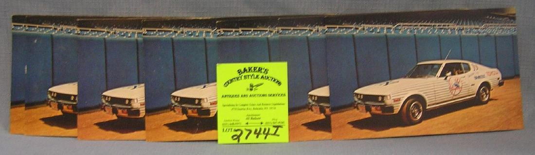 NY Yankees 1977 bull pen card photos