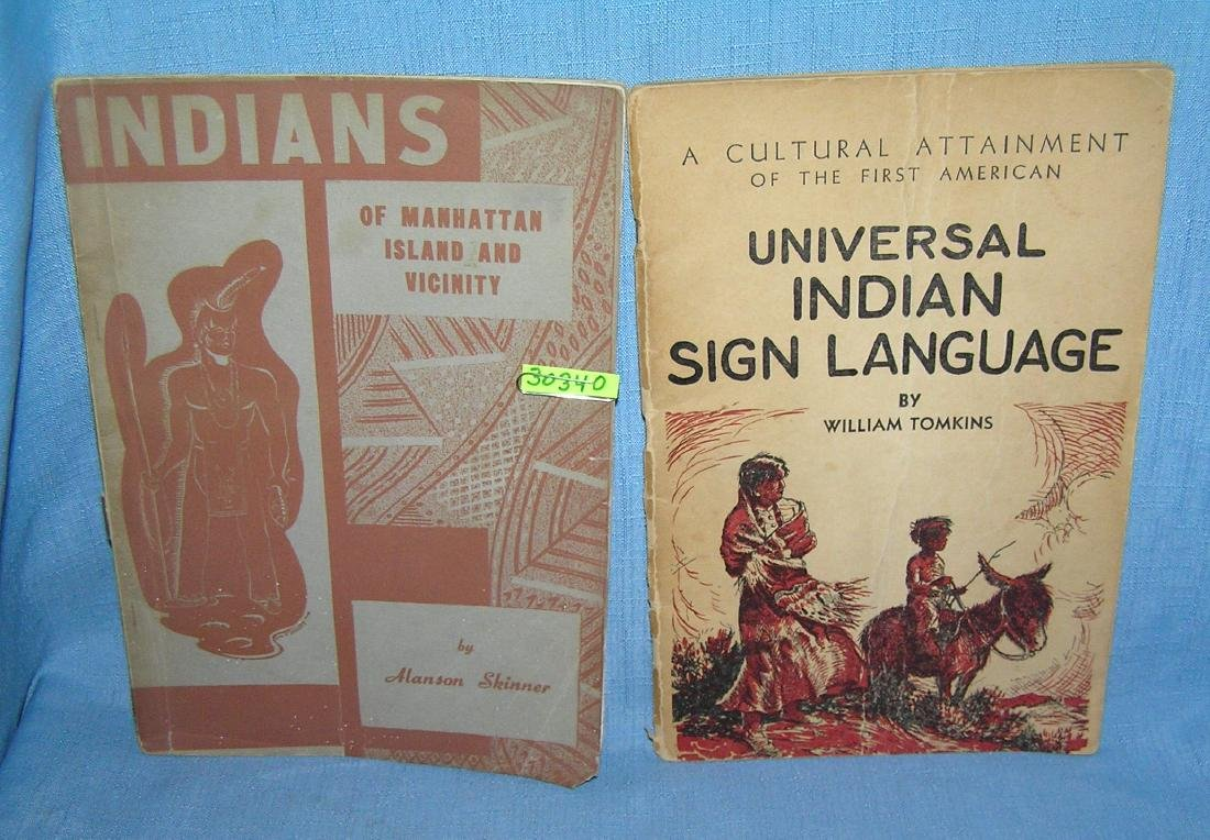 Pair of great early American Indian books
