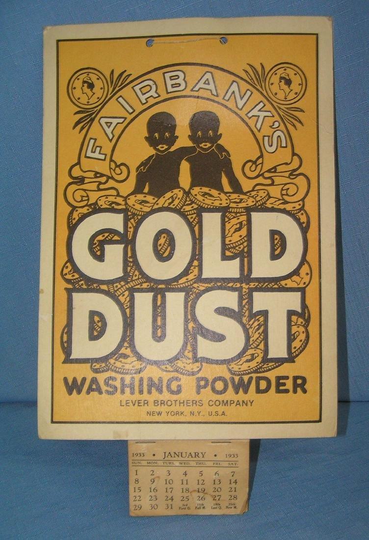 1933 Gold Dust washing powder calendar
