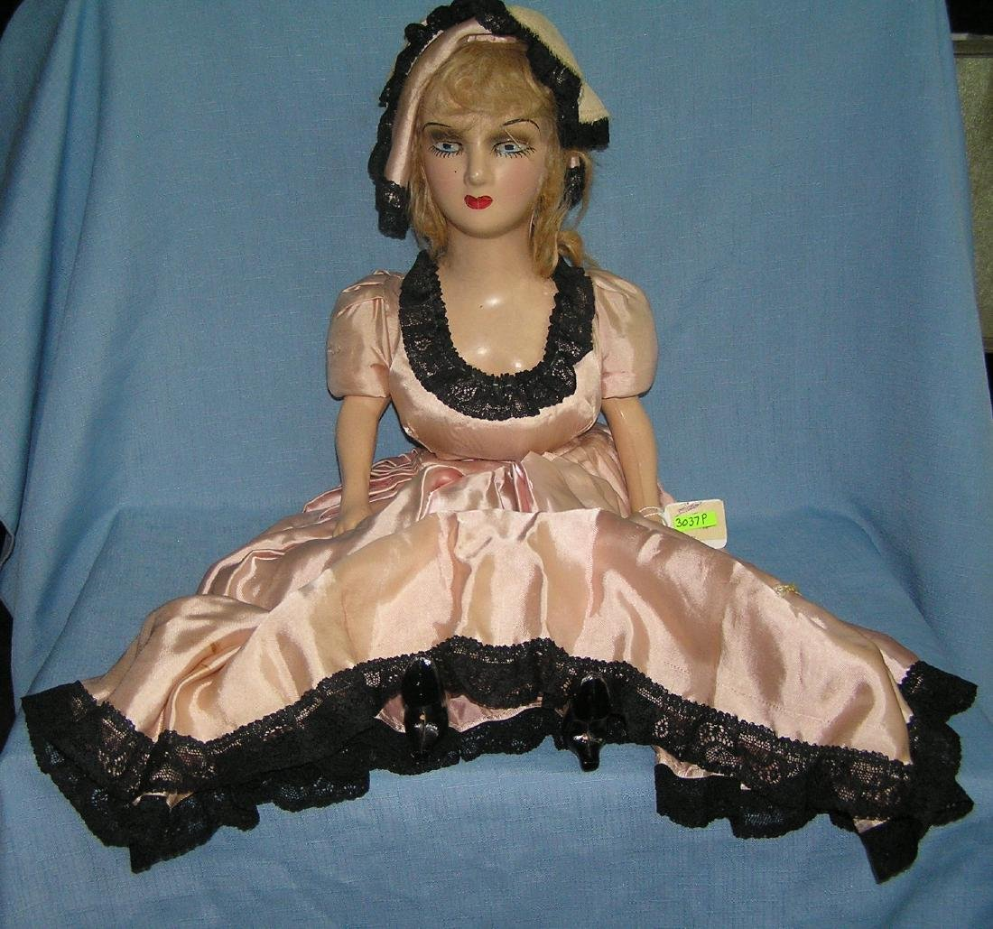 Large composition and hand painted boudair doll