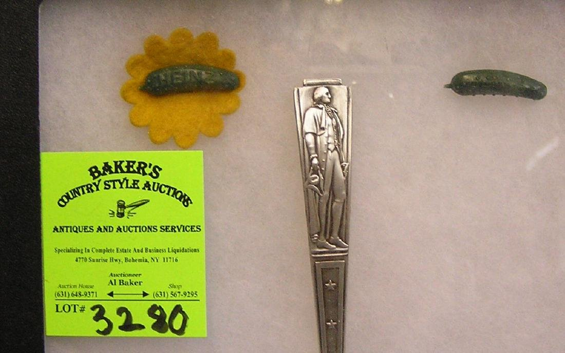 Pair of 1939 NY World's Fair Heinz pickle pins