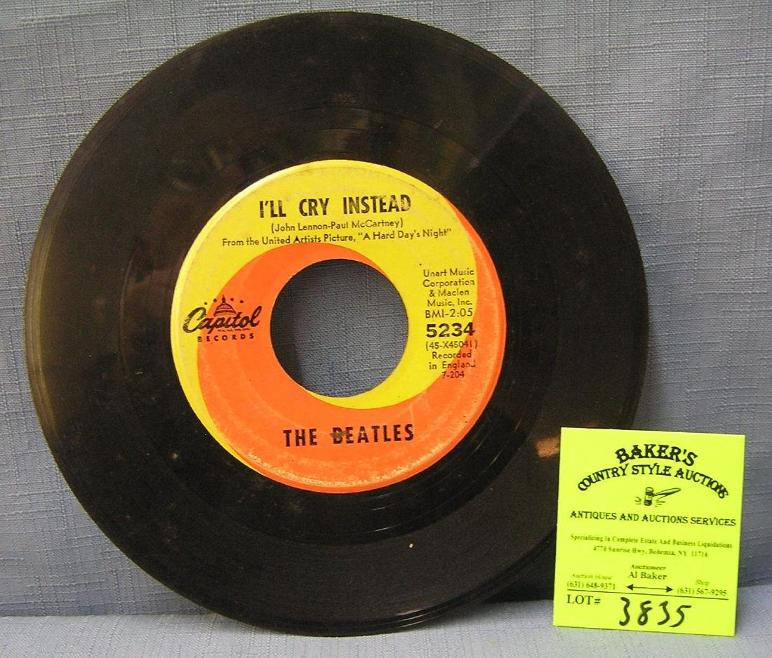 Vintage Beatles 45rpm record