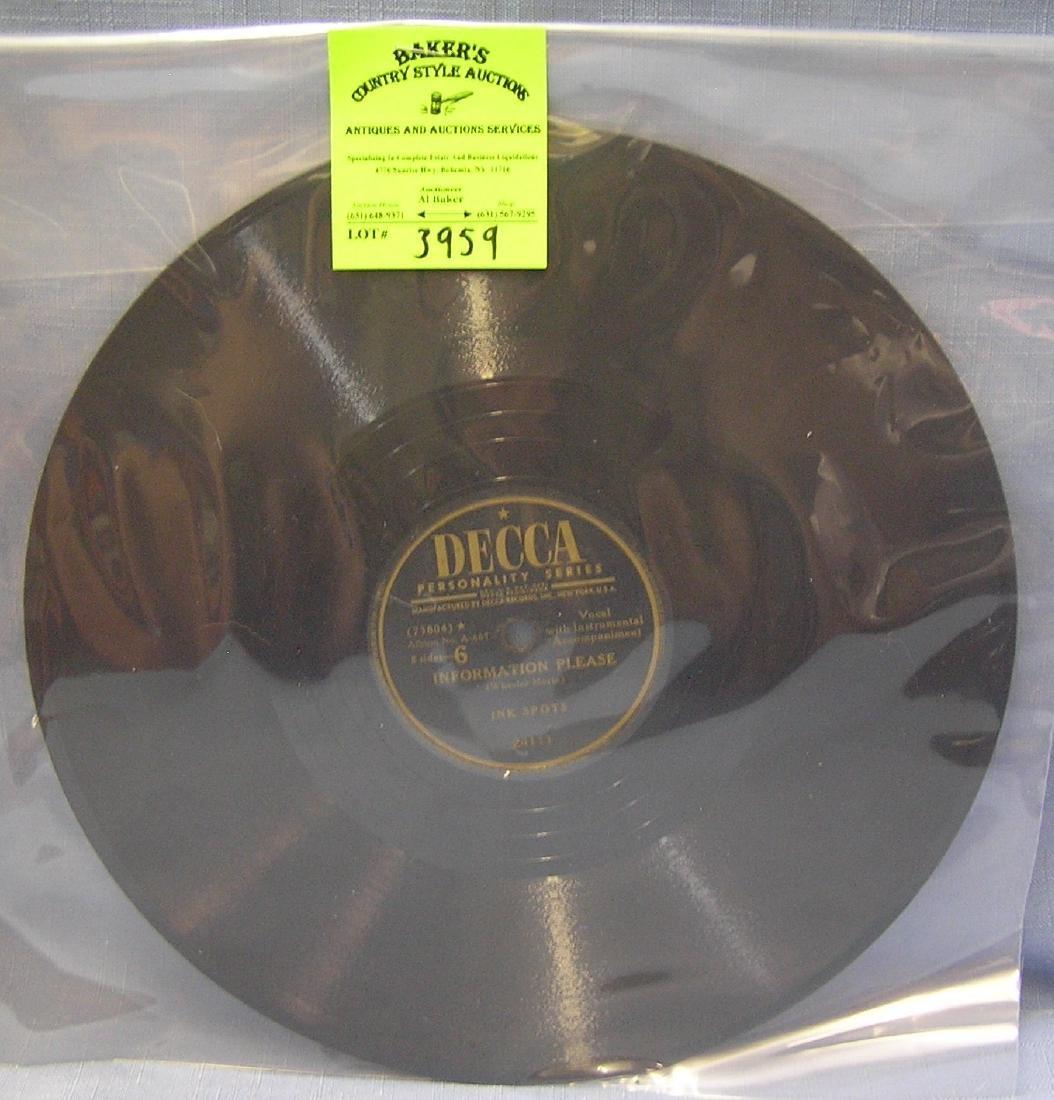 Vintage Ink Spots record album