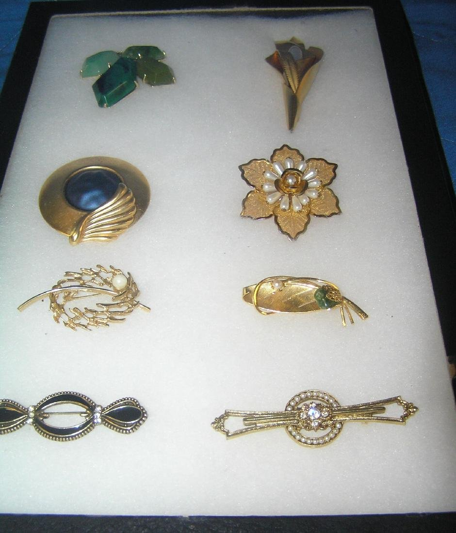 Collection of costume jewelry pins