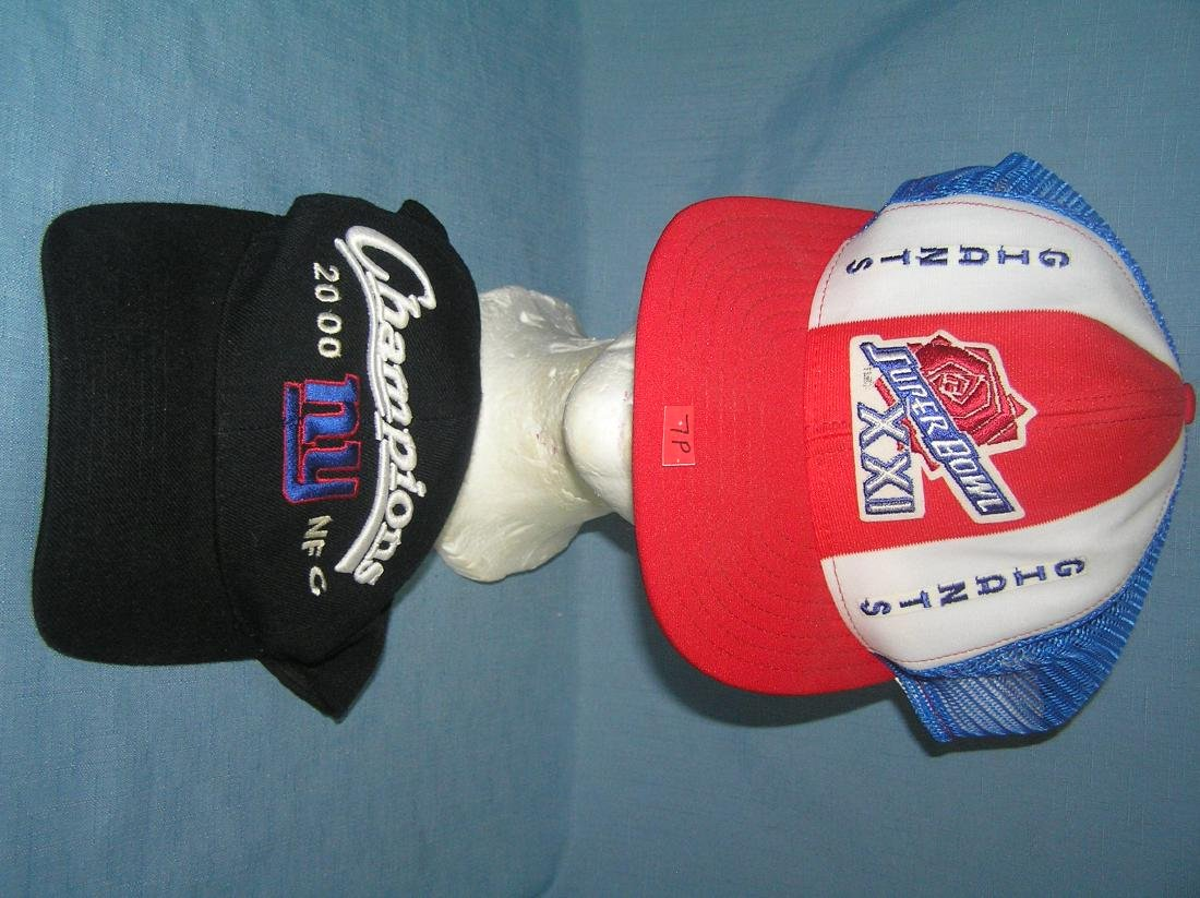 Pair of NY Giants Superbowl champion ball caps