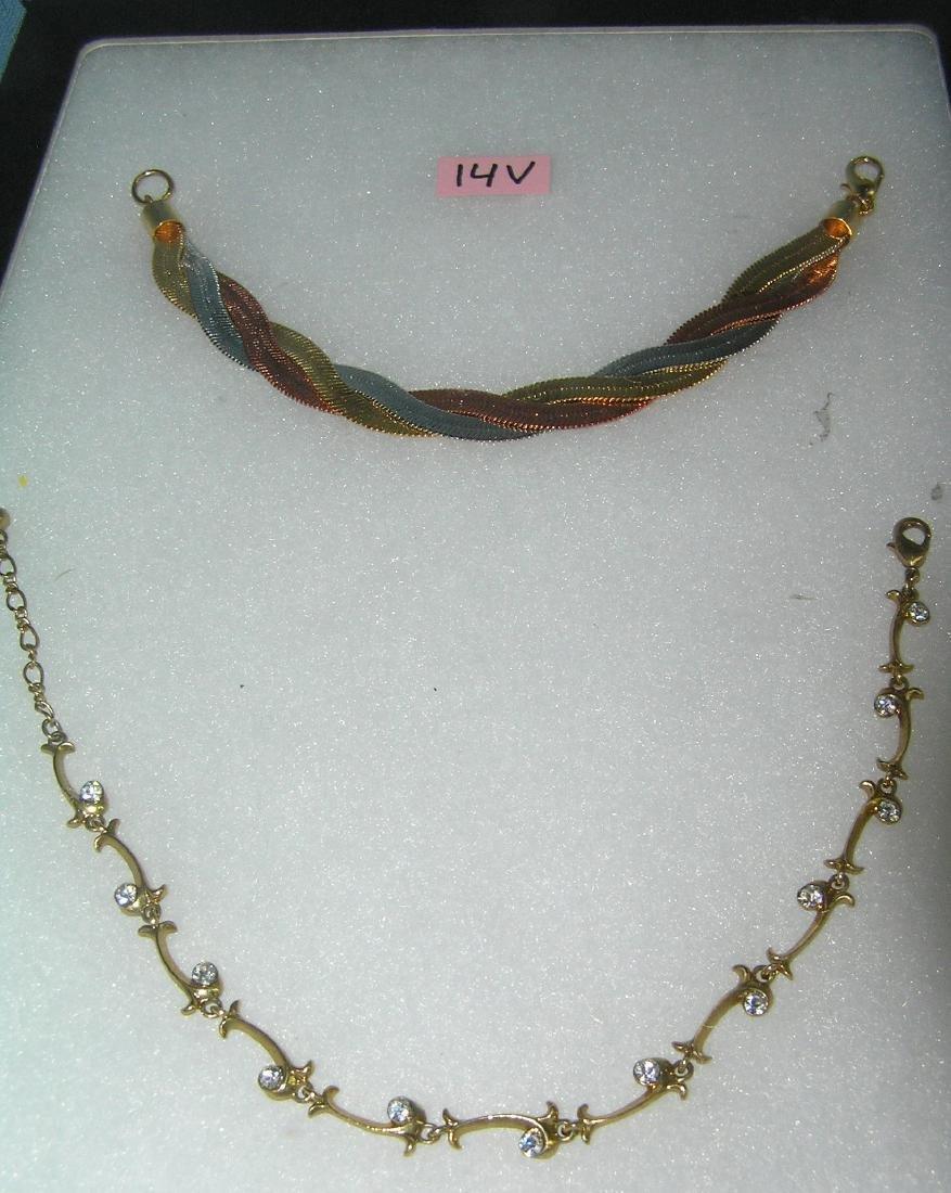 Pair of vintage bracelets one is tri color