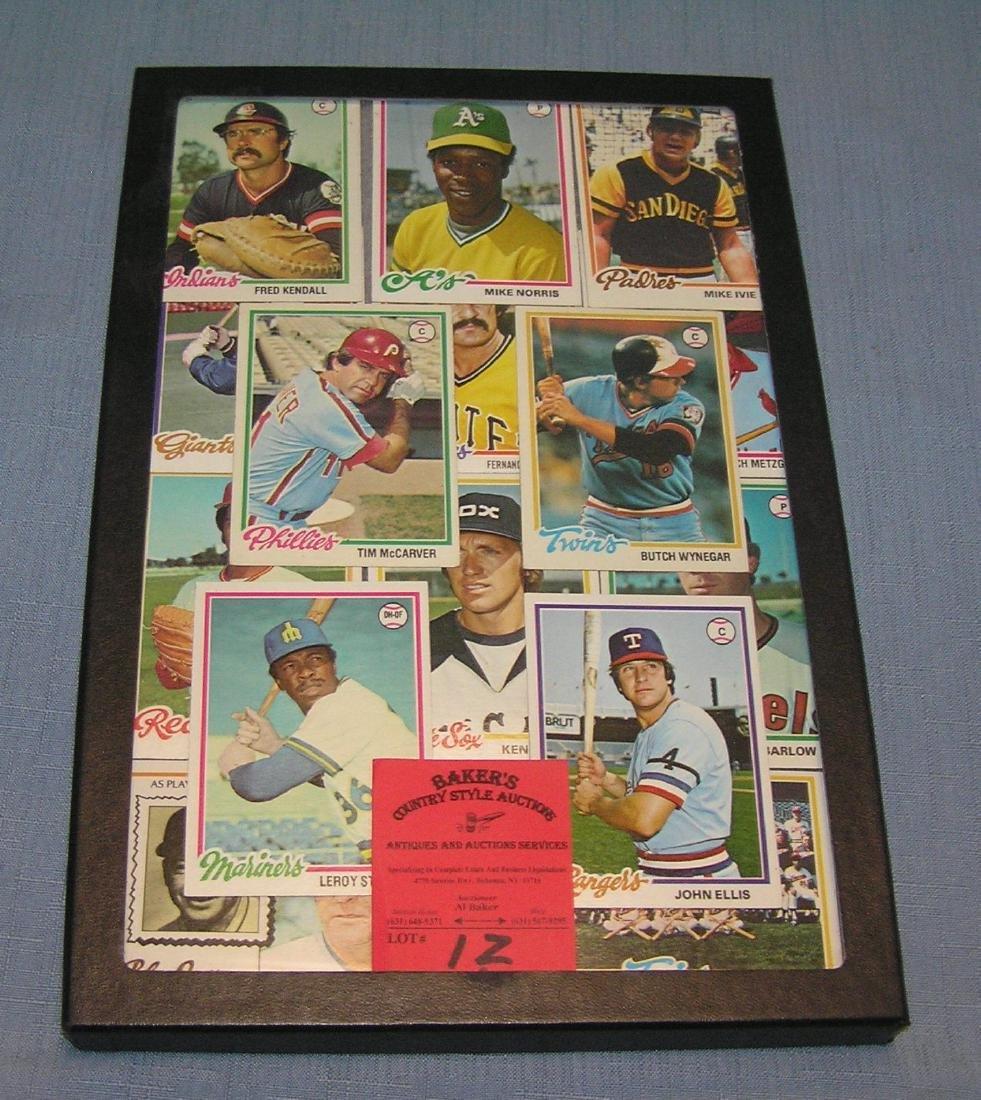 Group of vintage baseball cards