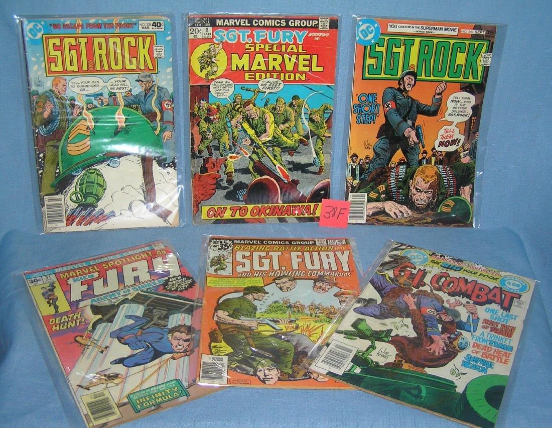 Sgt. Rock GI combat and Sgt. Fury comic books