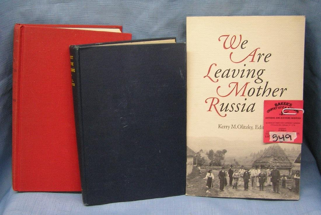Group of vintage Russian books
