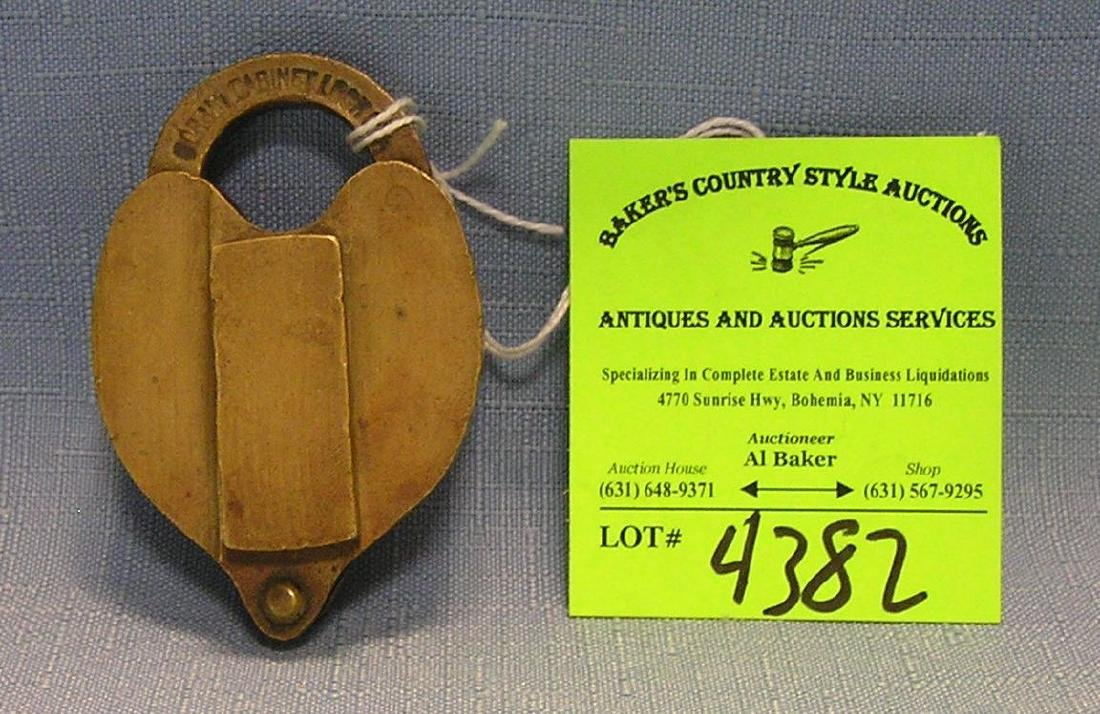 Antique solid brass padlock
